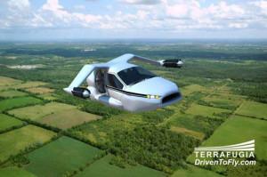 Auto Volante Elettrica Terrafugia-TF-X 4