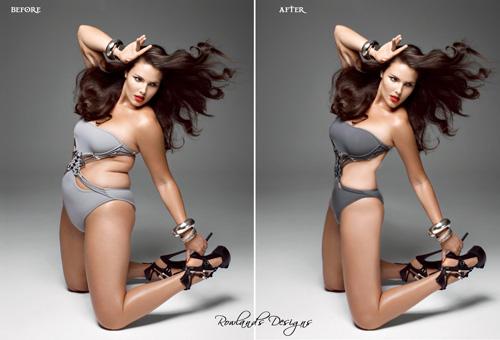 Stereotipi Donna Prima e dopo photoshop