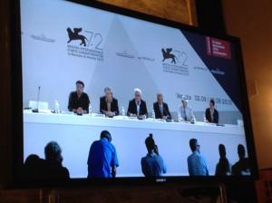 La giuria di Venezia 72 in conferenza stampa d'apertura il 2 settembre