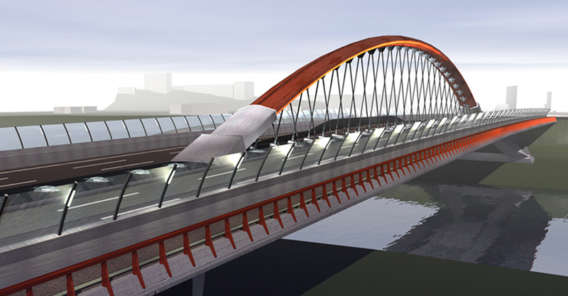 Il ponte dei congressi di roma il progetto al via entro for Foto di ponti coperti