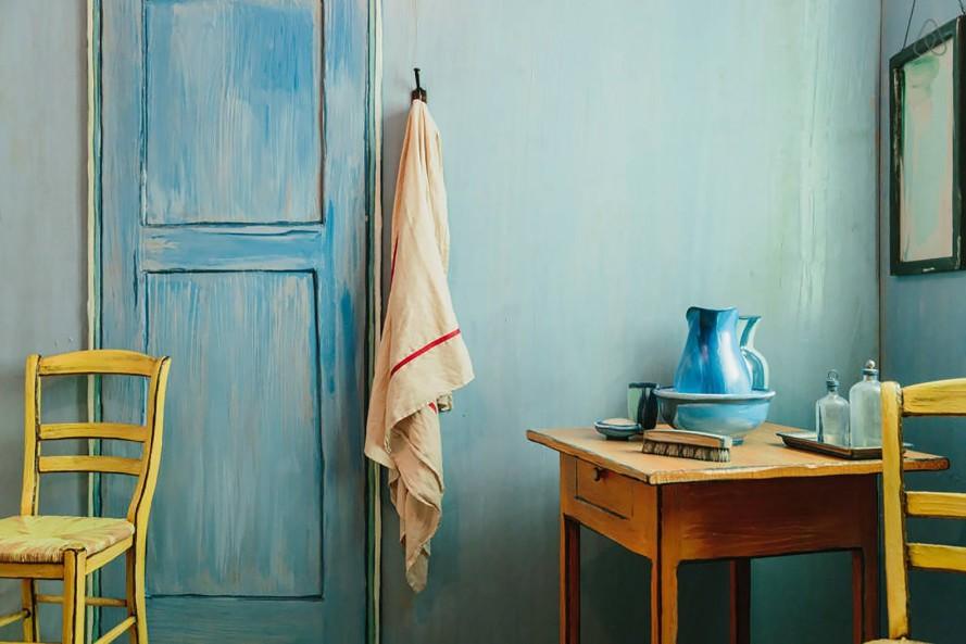 dormire nel famoso dipinto della stanza di Van Gogh