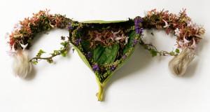 organi umani, ridisegnati utilizzando piante e fiori.