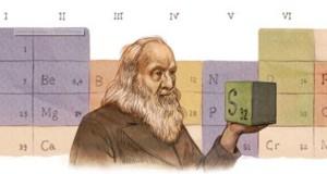 Dmitrij Mendeleev nel doodle di Google l'8 febbraio