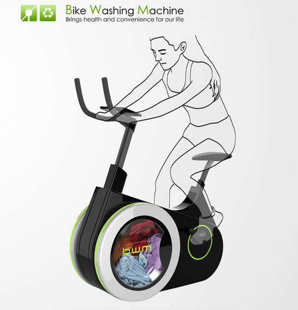 BIKE WASHING MACHINE - FARE IL BUCATO PEDALANDO