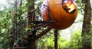 SPIRIT ECO SPHERE TREEHOUSE – LA CASA SUGLI ALBERI A FORMA DI SFERA