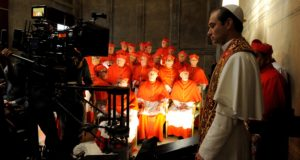 "set of ""The young Pope"" by Paolo Sorrentino."