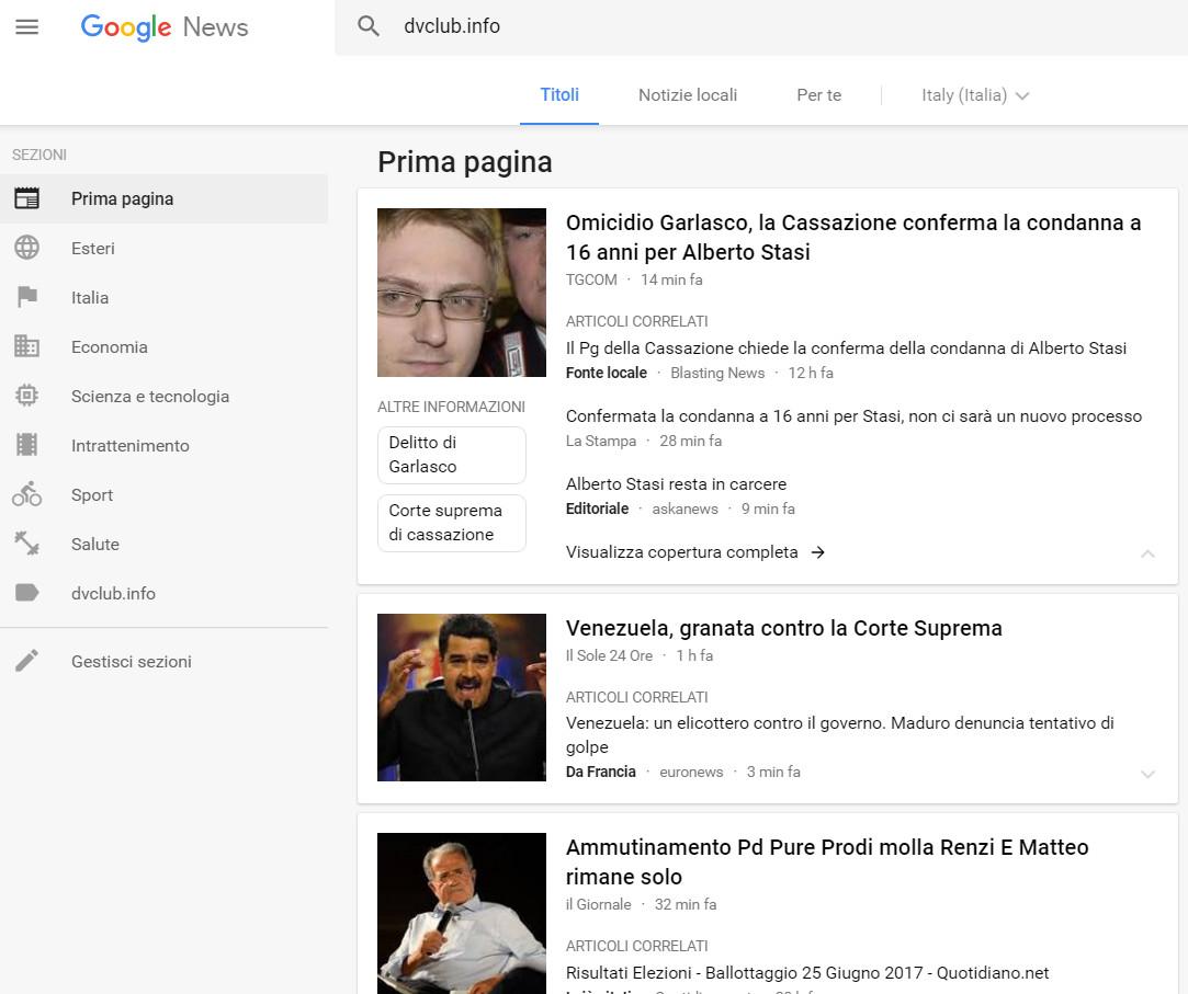google news nuova interfaccia