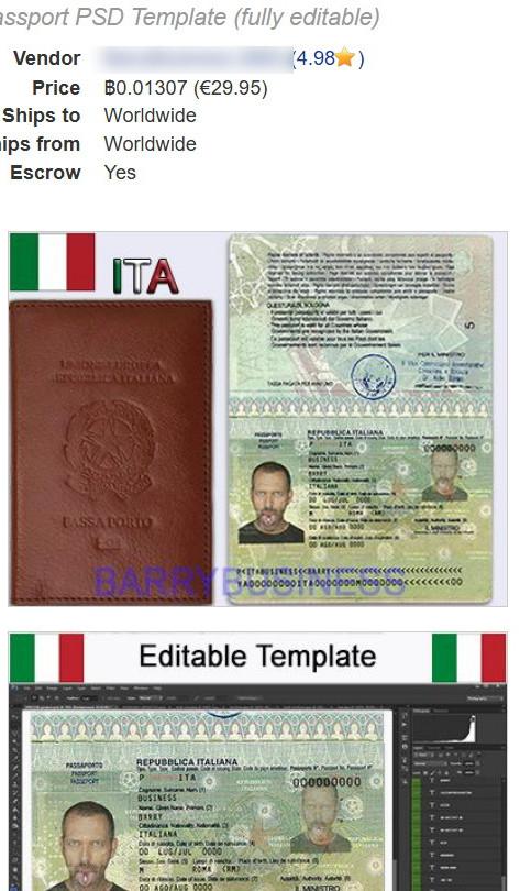 psd passaporto
